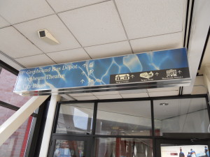 Bluewater Skyway Overhead Sign